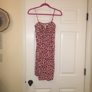 Vintage DVF Ladybug Silk Dress